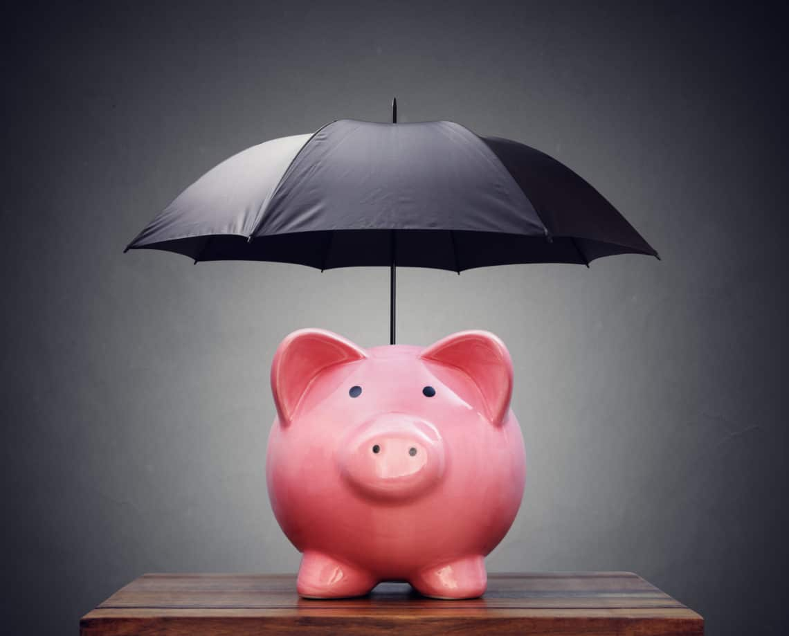 Piggy bank umbrella